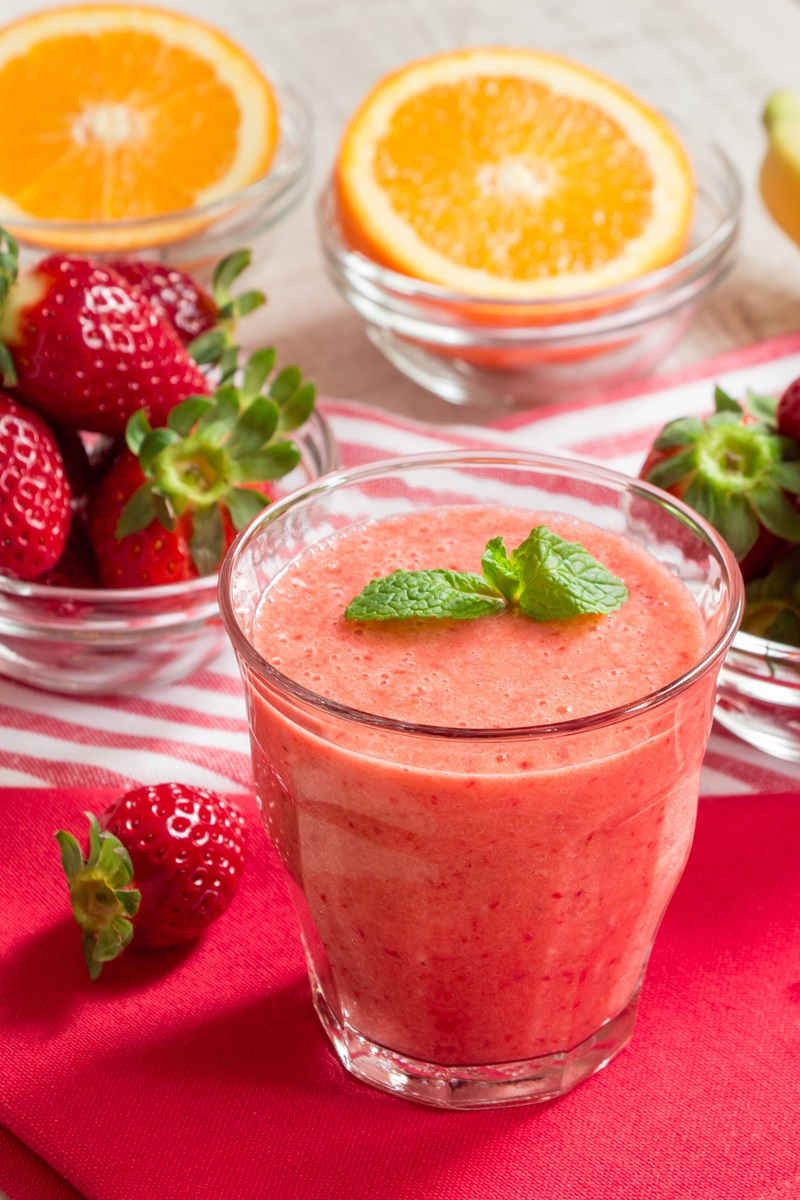 Super C Strawberry Smoothie Recipe Dairy Free Vegan