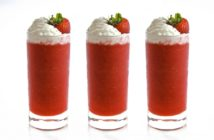 Virgin Frozen Strawberry Daiquiris Recipe with Vegan Whip + Other Flavor Options. A fun allergy-friendly treat for all.