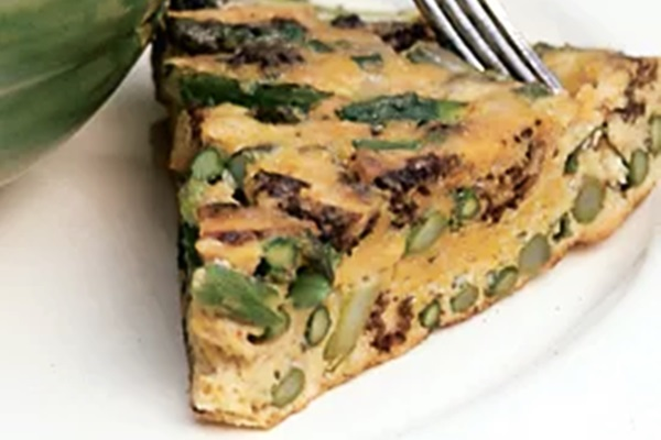 Asparagus Frittata Recipe - A dairy-free, vegetarian brunch specialty