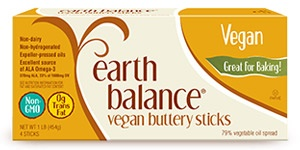 Earth Balance Buttery Sticks (Review) - dairy-free and vegan butter alternative - great for baking