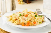Easy Dairy-Free Tuna Noodle Un-Casserole Recipe - also nut-free and soy-free with gluten-free and vegan Options