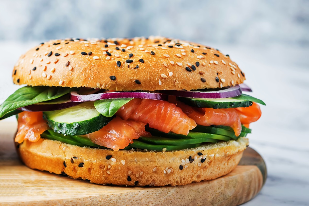 California-Style Bagels and Lox - Dairy-Free Recipe! Enjoy Sandwich-style or Open-faced. No cream cheese or cream cheese alternative needed!