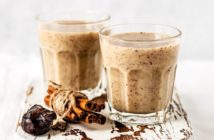 Cinnamon Banana Date Almond Smoothies Recipe - dairy-free, plant-based, raw, fresh, and vegan - made purely with healthy whole food ingredients - and it's delicious!