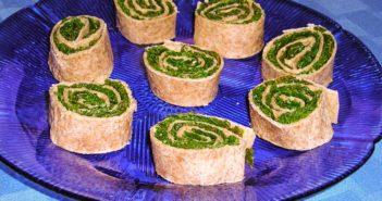 Plant-Based Kale Pinwheels Recipe (Tortilla Pinwheels) - Dairy-Free, Vegan, and Gluten-Free Optional
