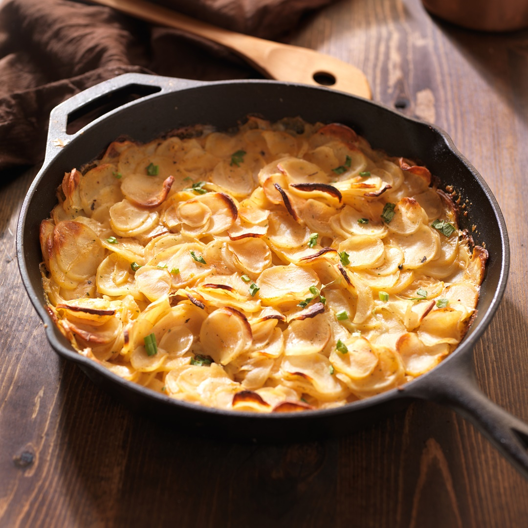 Dairy-Free Dauphinoise Potatoes Recipe - a naturally vegan, soy-free, gluten-free dish based on a French classic