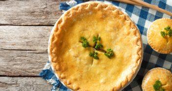 Dairy-Free Cheesy Chicken Pot Pie Recipe or Turkey Pot Pie with Vegan Options