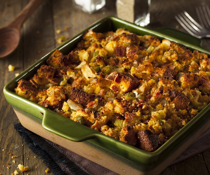 Pumpkin Bread Stuffing Recipe - a sweet & savory spin on a classic (dairy-free, vegan, optionally gluten-free and nut-free)