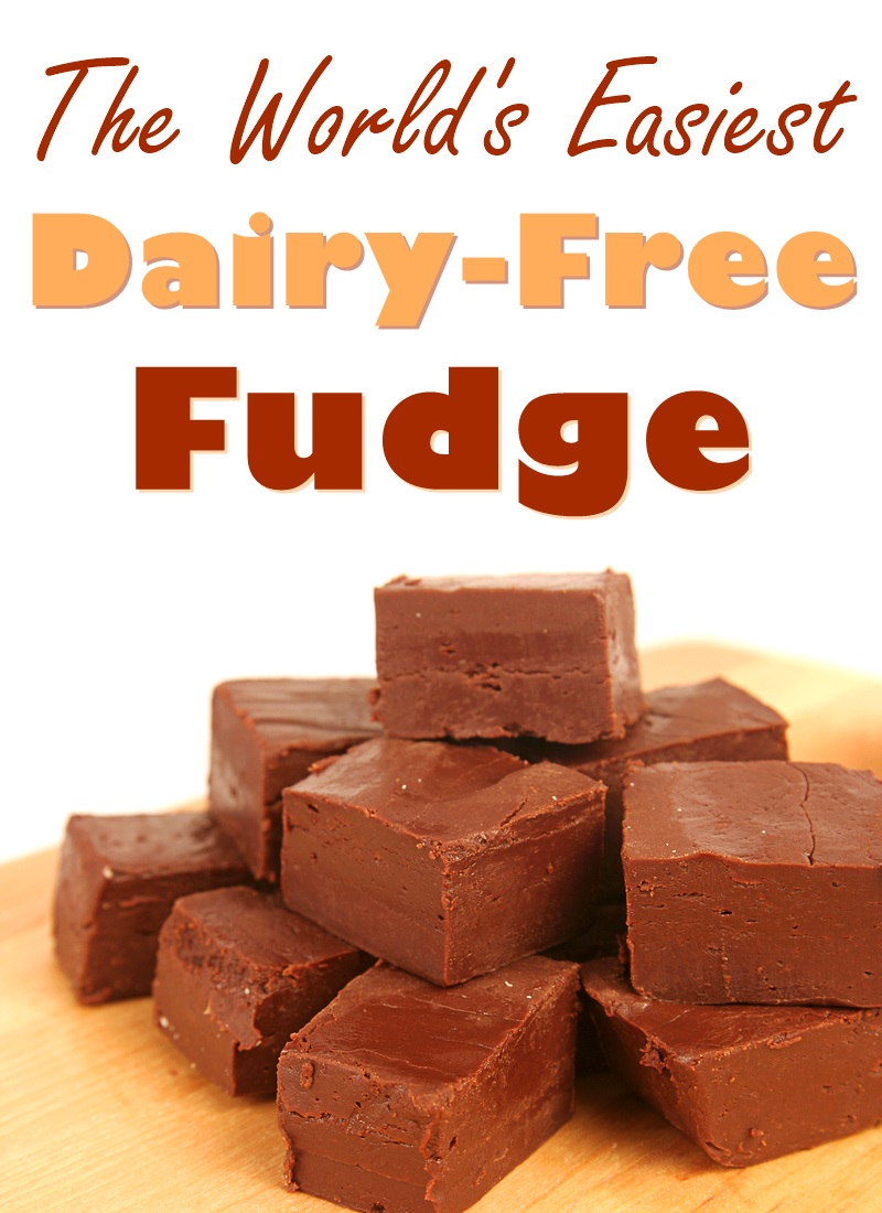The World's Easiest Dairy-free Fudge Recipe - also vegan and allergy-friendly
