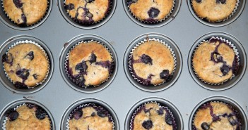 Wacky Blueberry Muffins Recipe (naturally vegan and use just a handful of pantry ingredients!)