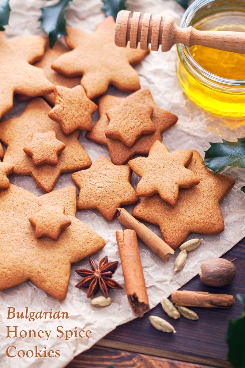 Bulgarian Honey Spice Biscuits Recipe or Christmas Medenki Cookies - naturally dairy-free and soy-free roll and cut cookies