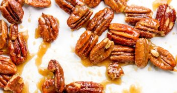 Vegan Maple Pecans Recipe - like candied or glazed, only healthier, dairy-free, oil-free, and paleo-friendly.