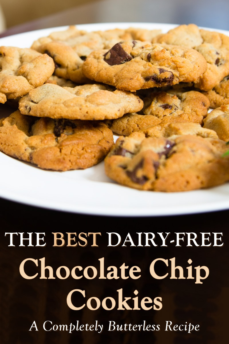The Best Dairy-Free Chocolate Chip Cookies Recipe that everyone loves, even Santa! Completely butter-free cookies, made with oil, for seamless results. Works at sea level and high altitude. Includes egg-free and vegan options.