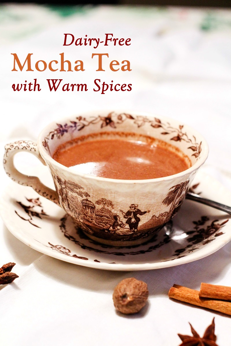 Dairy-Free Mocha Spice Tea Recipe - easy, comforting, rich, and delicious! Also vegan, gluten-free, and allergy-friendly with paleo option.