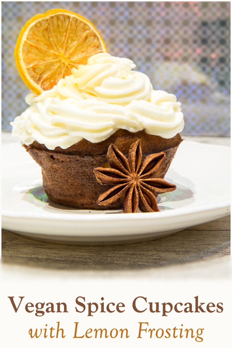 Vegan Spice Cupcakes Recipe with Dairy-Free Lemon Frosting