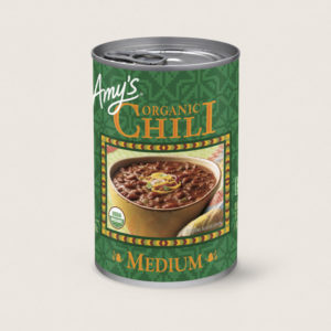 Amy's Organic Chili Reviews and Info - all vegan, dairy-free, gluten-free.