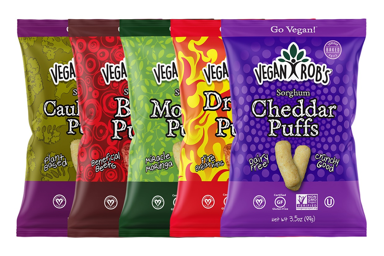 Vegan Rob's Puffs Reviews and Info - Dairy-Free Cheese Puffs, Superfood Puffs, and Vegetable Puffs with Healthy Benefits. Baked, not fried. Gluten-free, soy-free.