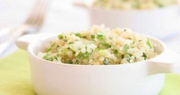Savory Garlic and Herb Quinoa Recipe - dairy-free, gluten-free