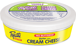 Tofutti Better Than Cream Cheese Reviews and Info (dairy-free and vegan alternative) - available in four varieties. Pictured: Herbs and Chives