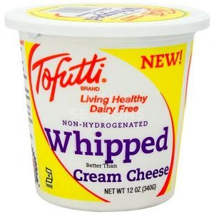 Tofutti Better Than Cream Cheese Reviews and Info (dairy-free and vegan alternative) - available in four varieties. Pictured: Whipped Cream Cheese Alternative