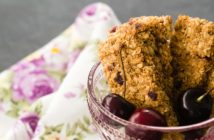 Cherry Almond Granola Bars Recipe made with actual granola! Dairy-free, easy snack recipe.