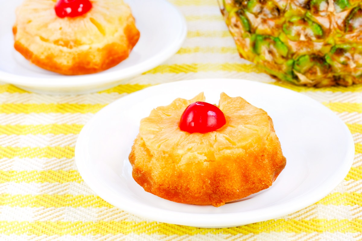 Dairy-Free Pineapple Upside Down Cakes Recipe - Mini Cakes with Full Size Cake Option, Vegan Option, and More
