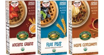 Nature's Path Frozen Waffles Review and Info - Organic Wheat-Based Varieties - all dairy-free, plant-based, low sugar, and made with purely wholesome ingredients.