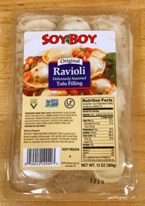 SoyBoy Ravioli Reviews and Info - dairy-free, plant-based, vegan and made with organic tofu ricotta-like filling