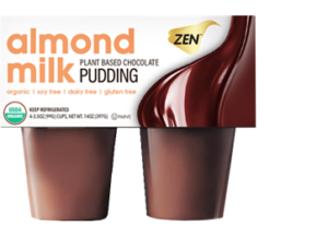Zen Organic Pudding Cups made with Almond Milk - dairy-free, gluten-fee, soy-free - Reviews and Info