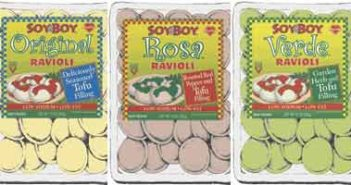 SoyBoy Ravioli - organic tofu stuffed vegan ravioli available in 3 different flavors
