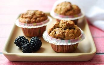 Blackberry Oat Muffins Recipe - Healthy and Naturally Gluten-free, Dairy-free, and Nut-free!