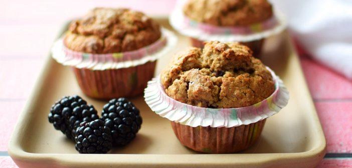 Blackberry Oat Muffins: Naturally Gluten-Free