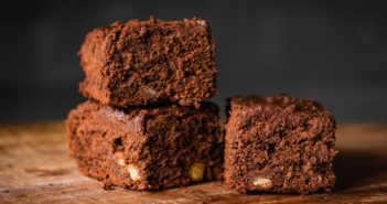 Dairy-Free Brownie Bars Recipe with Chocolate Chips and Nuts (optional)