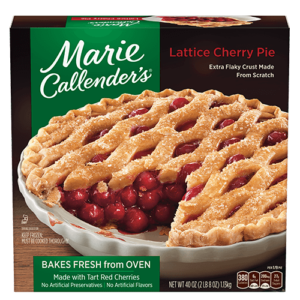 Marie Callender's Frozen Pies Reviews and Info: Dairy-Free Varieties (most are also vegan, egg-free, and nut-free). Pictured: Lattice Cherry