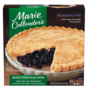 Marie Callender's Frozen Pies Reviews and Info: Dairy-Free Varieties (most are also vegan, egg-free, and nut-free). Pictured: Blueberry