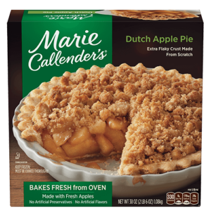 Marie Callender's Frozen Pies Reviews and Info: Dairy-Free Varieties (most are also vegan, egg-free, and nut-free). Pictured: Dutch Apple Pie