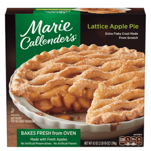 Marie Callender's Frozen Pies Reviews and Info: Dairy-Free Varieties (most are also vegan, egg-free, and nut-free). Pictured: Lattice Apple Pie