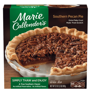 Marie Callender's Frozen Pies Reviews and Info: Dairy-Free Varieties. Pictured: Southern Pecan Pie