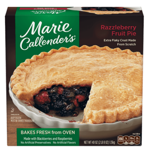 Marie Callender's Frozen Pies Reviews and Info: Dairy-Free Varieties (most are also vegan, egg-free, and nut-free). Pictured: Razzleberry Pie