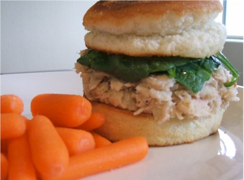 Kinnikinnick English Muffins - One of the best gluten-free, dairy-free breads available. (shown as a tuna sandwich)