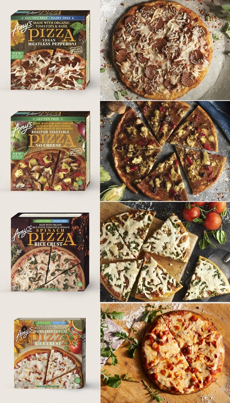 Amy's Dairy-Free, Gluten-Free Frozen Pizzas - Reviews, Ratings, Ingredients and More Info for all 4 Vegan and Gluten-Free Varieties