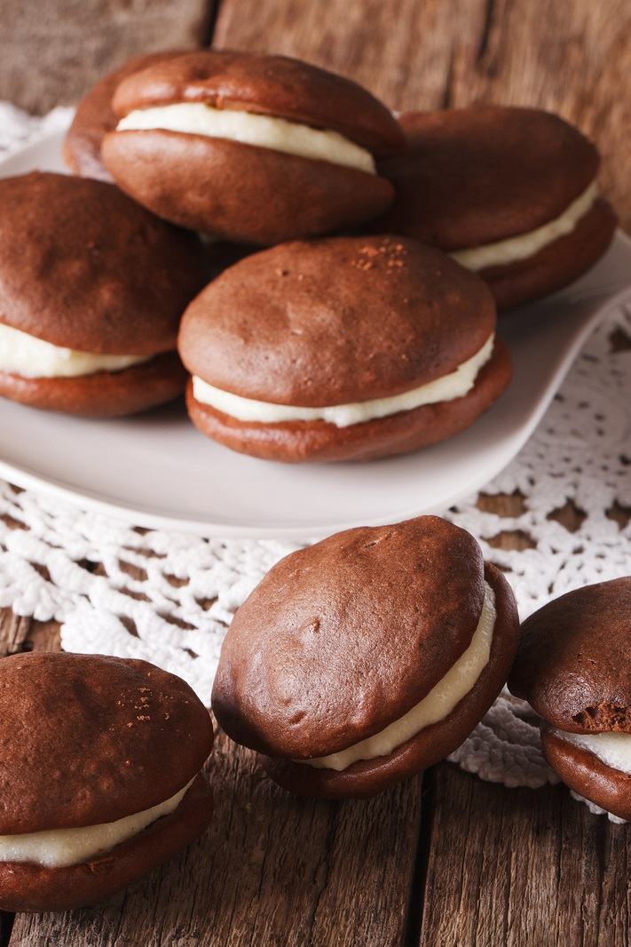 Classic Chocolate Whoopie Pies - a dairy-free, nut-free, optionally soy-free recipe!