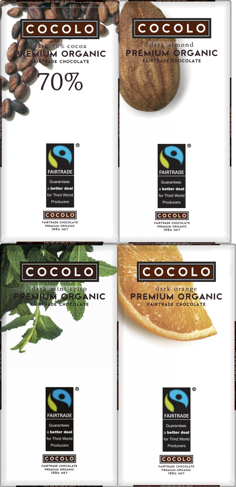 Cocolo - Fair trade, organic, dairy-free dark chocolate