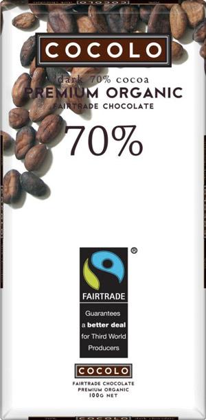 Cocolo - Fair trade, organic, dairy-free dark chocolate.
