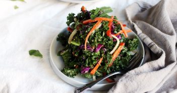 Colorful Kale Salad with Orange Ginger Dressing Recipe (Healthy, Vegan and Gluten-Free)