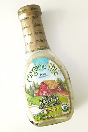 Organicville Non-Dairy Ranch is just as creamy and delicious as regular ranch dressing, but vegan, gluten-free, and organic!