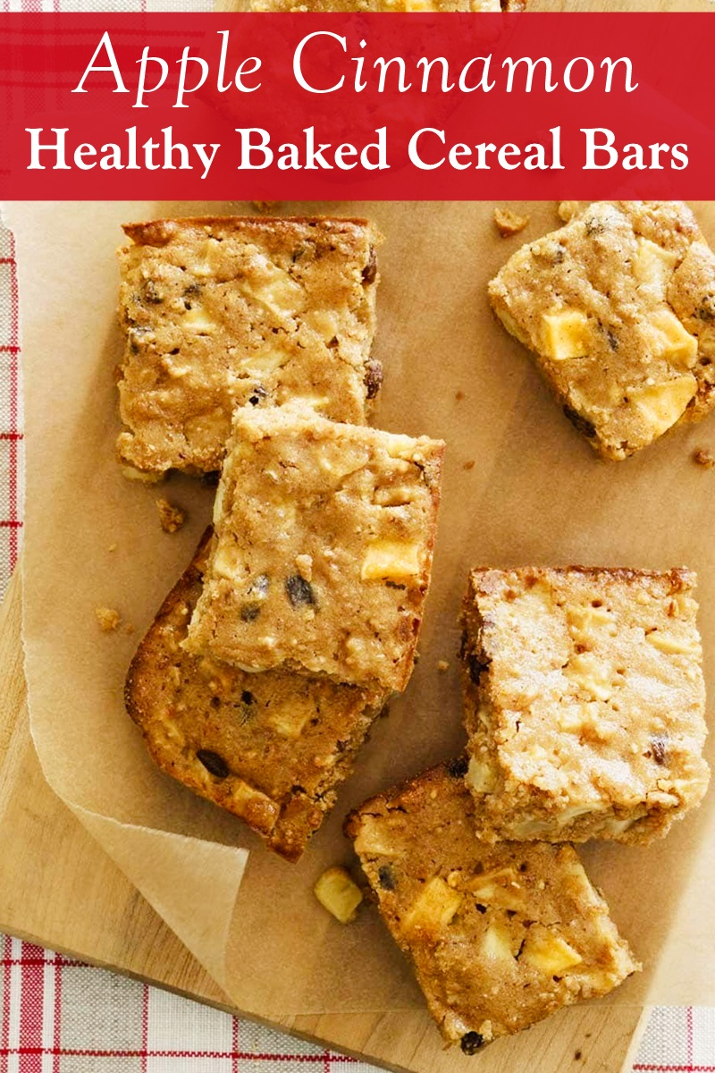 Apple Cinnamon Baked Cereal Bars Recipe - dairy-free, plant-based, and a nutritious treat.