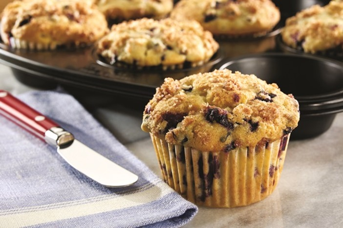 Dairy-Free Old Fashioned Blueberry Muffins