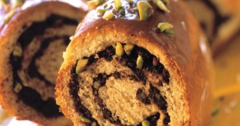 Chocolate Pistachio Coffee Cake Recipe (dairy-free)