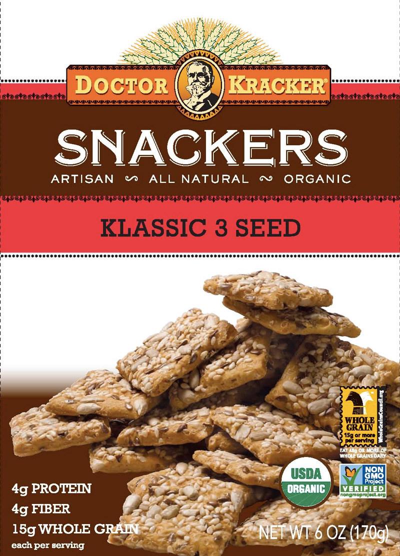 Doctor Kracker Snackers - A seedy whole grain cracker alternative for healthy snacking!