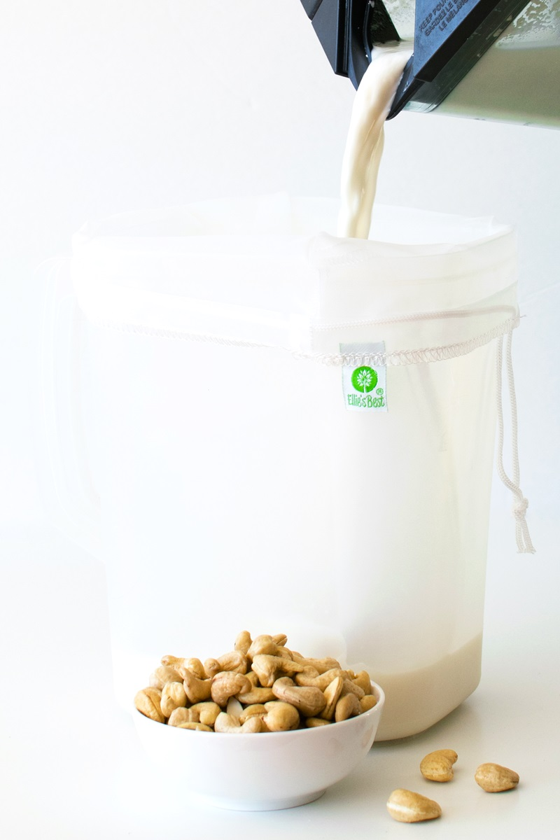 HomemadeDairy-FreeCashew Milk Recipe - This easy beverage is delicious and versatile! Clean ingredients, no additives, gluten-free, soy-free, grain-free + tips for making and using (plant-based)